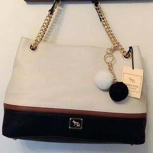 NWT Emma Fox Filmore Colorblock Chain Satchel Bone